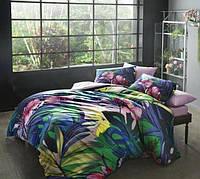 Двуспальное евро постельное белье TAC Jungle Бамбук