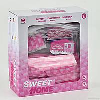 Мебель для кукол 2539 Р кровать, постель, подушка, звук, свет