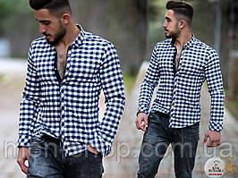 Красивая мужская рубашка в клетку