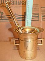 Ступка кухонна старовинна відреставрована ( почищена ) Ступа бронзова.