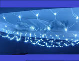 Светодиодная гирлянда сетка  120 Led (1.5 *1.2 м.) синяя,мультицвет, фото 3