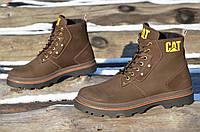 Мужские стильные ботинки натуральная кожа, мех толстая антискользящая подошва (Код: 990а). Только 44р!, фото 1