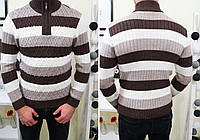 Мужской свитер зимний  фабричной вязки  на замочку !