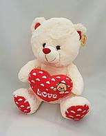 Мишка медведь медвежонок плюшевый мягкий музыкальный с серцем поет песенку я тебя люблю