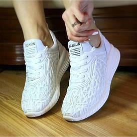 Женские кроссовки лето белые