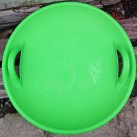 Тарелка ледянка для катания с горок (зеленая)