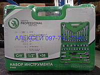"Набор инструментов 38ед. 1/2"" Cr-V. INTERTOOL ET-6038SP"