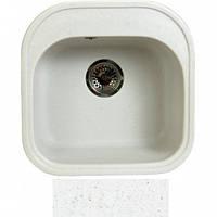 Кухонная мойка белая гранит  FOSTO 48x49 SGA-203