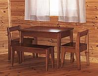 Набор деревянной кухонной мебели 1 ( стол, лавка, два стула )