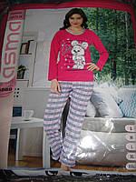 Пижамы женские ASMA с начесом Чебурашка