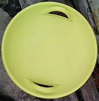 Тарелка ледянка для катания с горок (желтая)