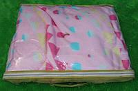 Махровое покрывало на кровать полуторного размера - светло-розовое