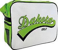 Молодежная сумка через плечо Дакота бело-зеленая