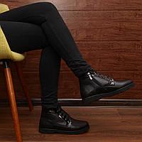Женские зимние ботинки на шнуровке модель 7141.1