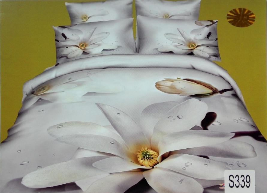 Сатиновое постельное белье евро 3D ELWAY S339