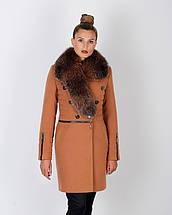 Женское зимнее пальто горчица 42-52рр, фото 2