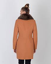 Женское зимнее пальто горчица 42-52рр, фото 3