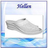 Жіноче шкіряне медичне взуття Сабо Олена/білі/відкриті/Флоаре