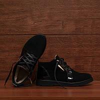 Женские зимние ботинки на шнуровке модель 7113.1