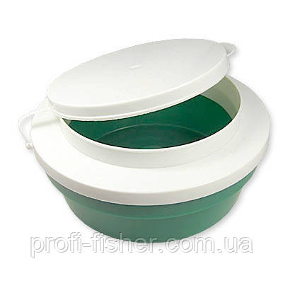 Коробка Maggot box round * green gr.250