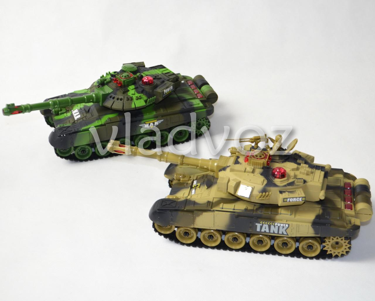 Набор боевые детские танки 2шт. большие на радиоуправлении пульте War Tank