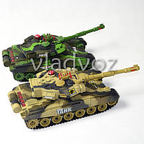 Набор боевые детские танки 2шт. большие на радиоуправлении пульте War Tank, фото 3