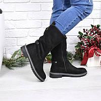 Ботинки полусапоги женские Misty черные, женские сапоги