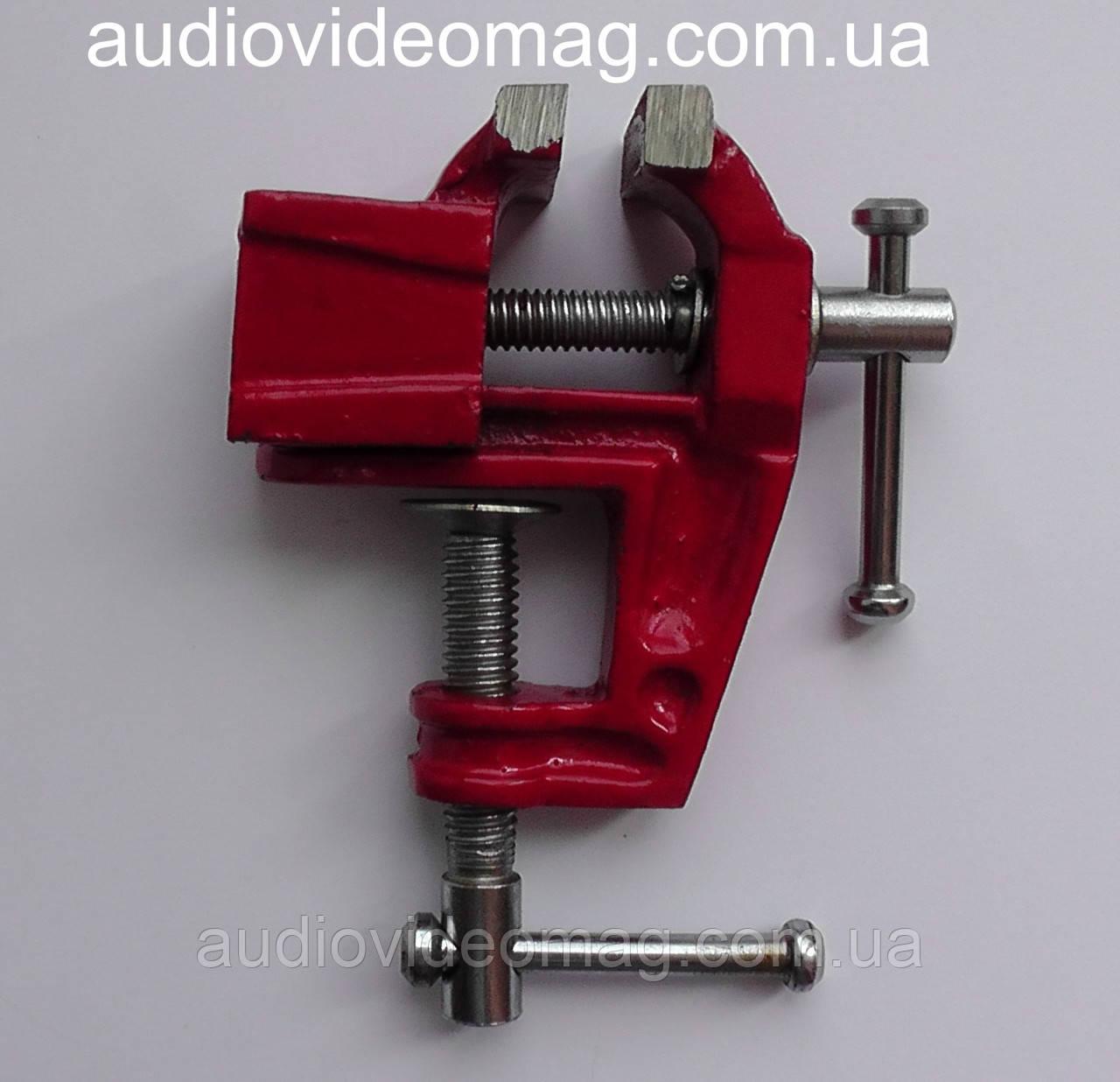 Мини тиски слесарные неповоротные, ширина губок 40 мм