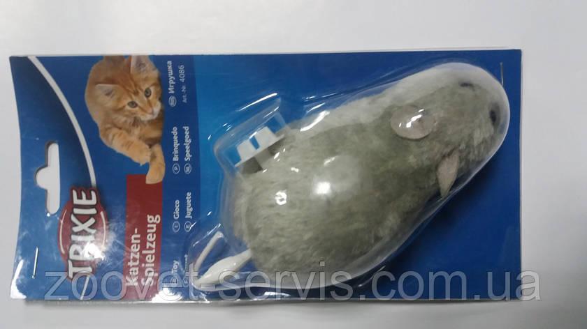 Мышь плюшевая заводная для котов Trixie (Трикси) 4086, фото 2