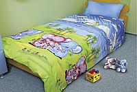 Комплект постельного белья Слоники, хлопок, детский