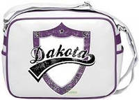 Молодежная сумка через плечо Дакота бело-сиреневая