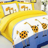 Комплект постельного белья Жирафы, хлопок, детский