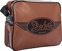 Молодежная сумка через плечо Дакота коричневая