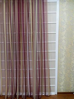 Тюль Домиан бордо, (3м ширина), фото 2