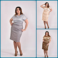 Платье новогоднее нарядное женское батал  770479, размер 42, 44, 46, 48, 50, 52, 54, 56, 58, 60.