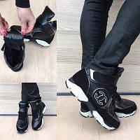 Женские кожаные зимние кроссовки.