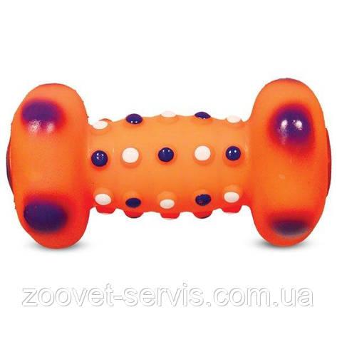 Игрушка для собак издающая звуки винил Гантель, фото 2
