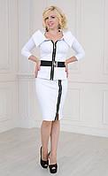 Женский трикотажный костюм юбка и жакет, фото 1