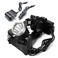 Кри XM-L Т6 1600лм LED велосипед перезаряжаемые фара переменного тока Автомобильное зарядное устройство