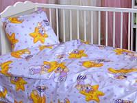 Комплект постельного белья детский Ранфорс Leleka-textile Луна/Мишка