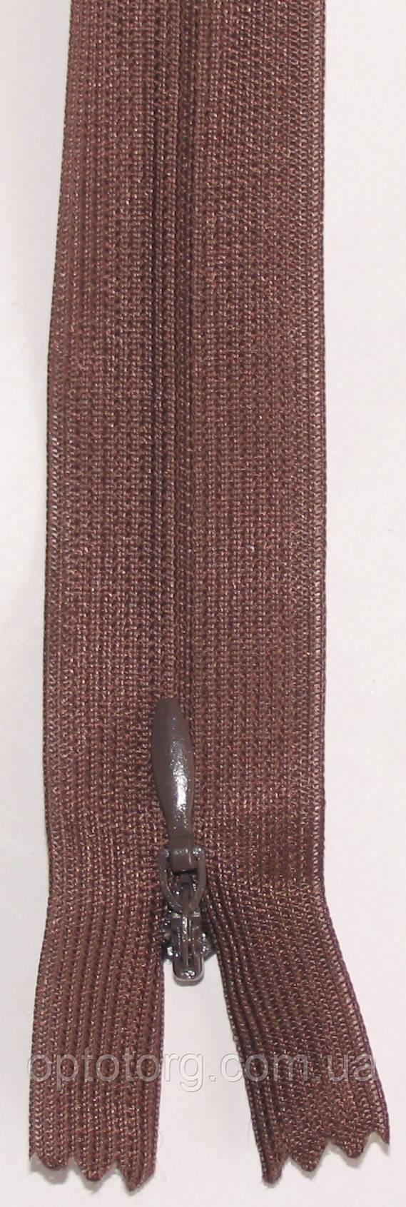 Черная потайная неразъмная пластиковая молния, змейка длина 50см оптом от optotorg.com.ua