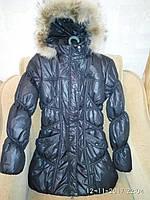 Куртка-пальто на осень и зиму PEAK р.M-L черная, супер качество, теплая, легкая