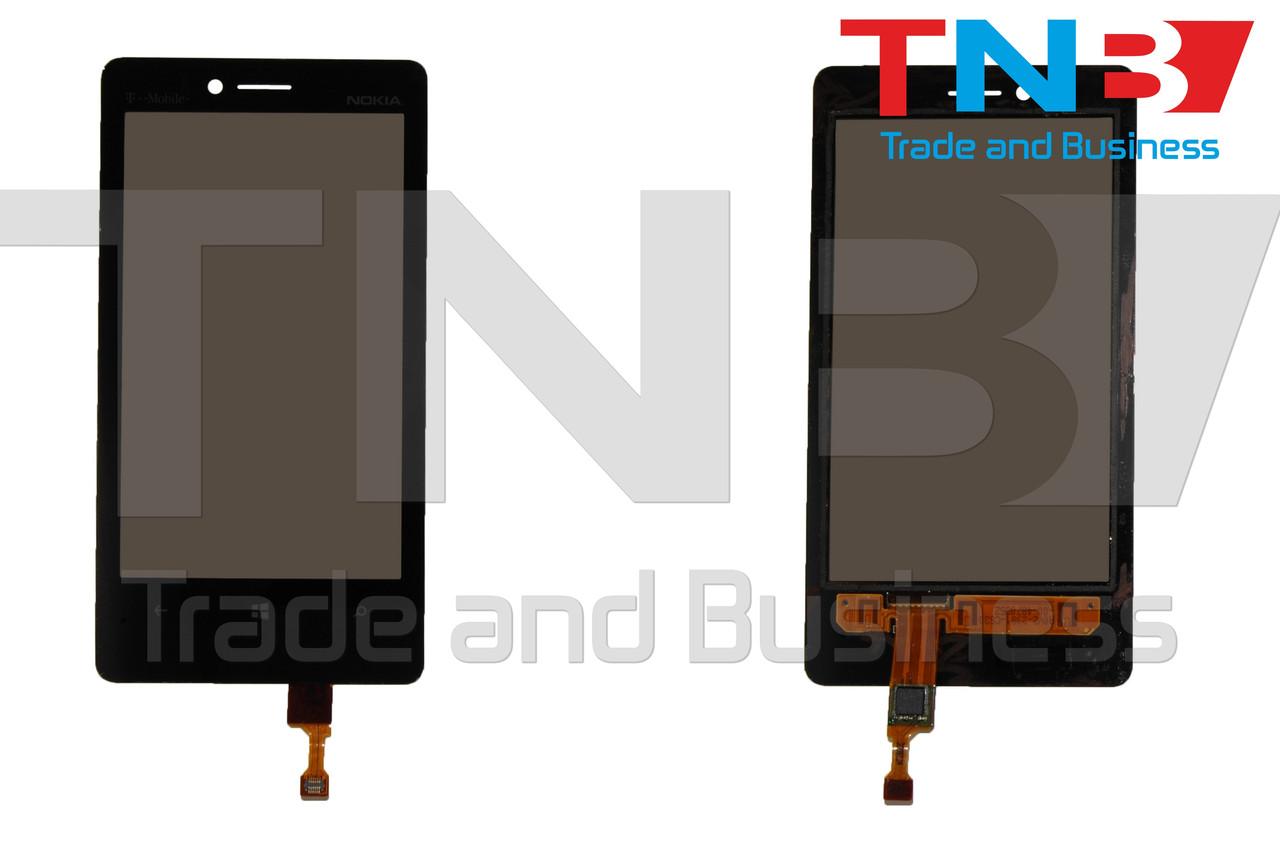 Сенсор NOKIA Lumia N810 Черный ОРИГИНАЛ