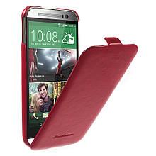 Чехол Flip Fashion Crazy Horse для HTC One M8 красный