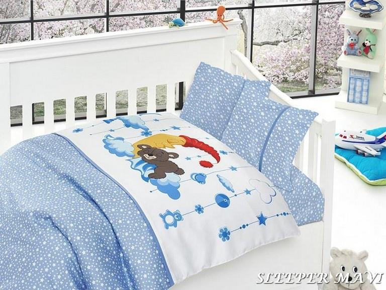 Комплект постельного белья First Choice Satin Bamboo детский Sleeper Mavi - Vdoma интернет-магазин  в Киеве