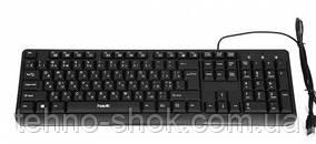 Дротова клавіатура HAVIT HV-378, USB, black