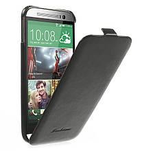 Чехол Flip Fashion Crazy Horse для HTC One M8 черный