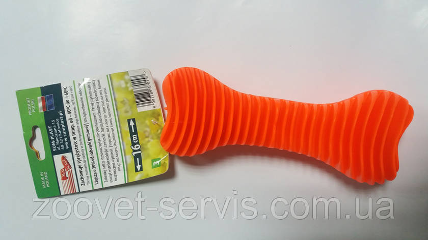 Игрушка для собак С ЗАПАХОМ ВАНИЛИ Sum-Plast Dent-a-Chew Ribbed, фото 2