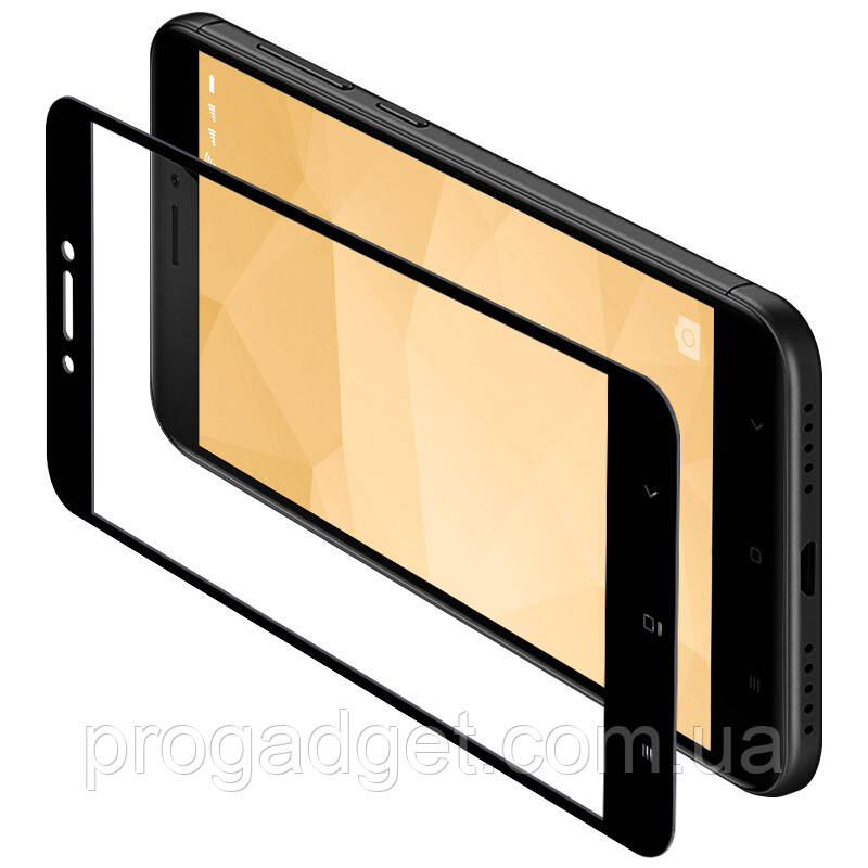 Защитное стекло для Xiaomi Redmi 4x Black Yomo - у вашего смарта больше не будет синяков на лице!