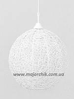 Фонарь шар из ротанга белый , фото 1